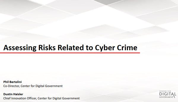 Assessing Risks Related to Cyber Crime