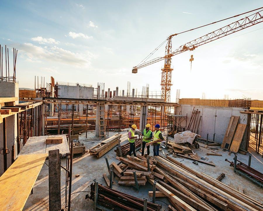 Photo of construction.