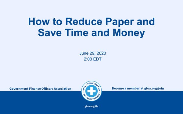 How to Reduce Paper and Save Time and Money