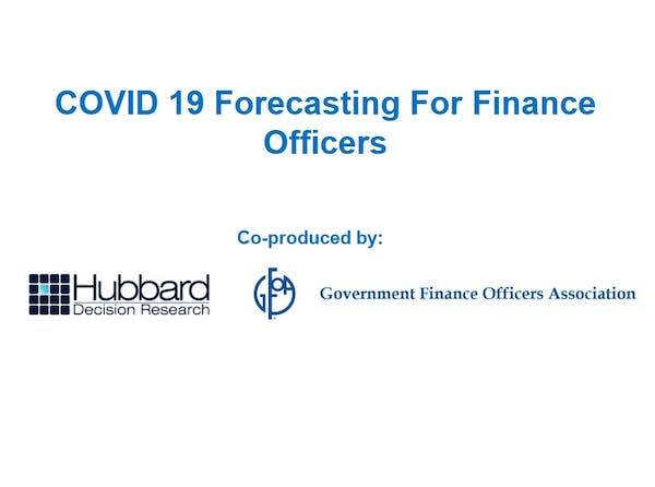 COVID-19 Forecasting for Finance Officers