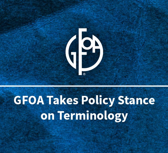 GFOA Policy Stance Graphic