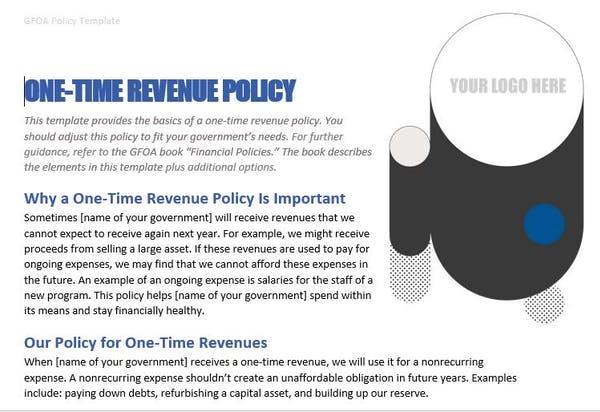 One-Time Revenue Policy Template