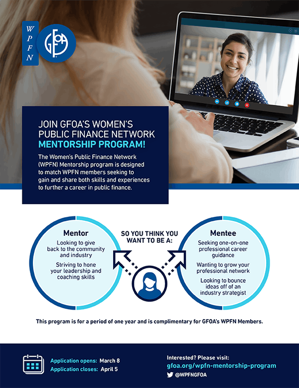 Women's Public Finance Network Mentorship Flyer