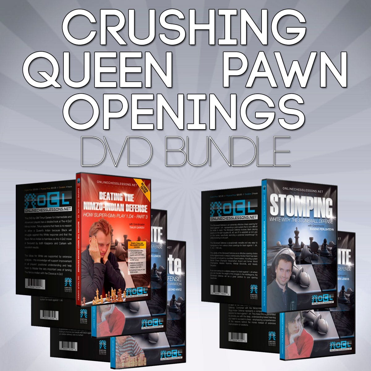Empire Chess Crushing Queen Pawn Openings Chess Bundle