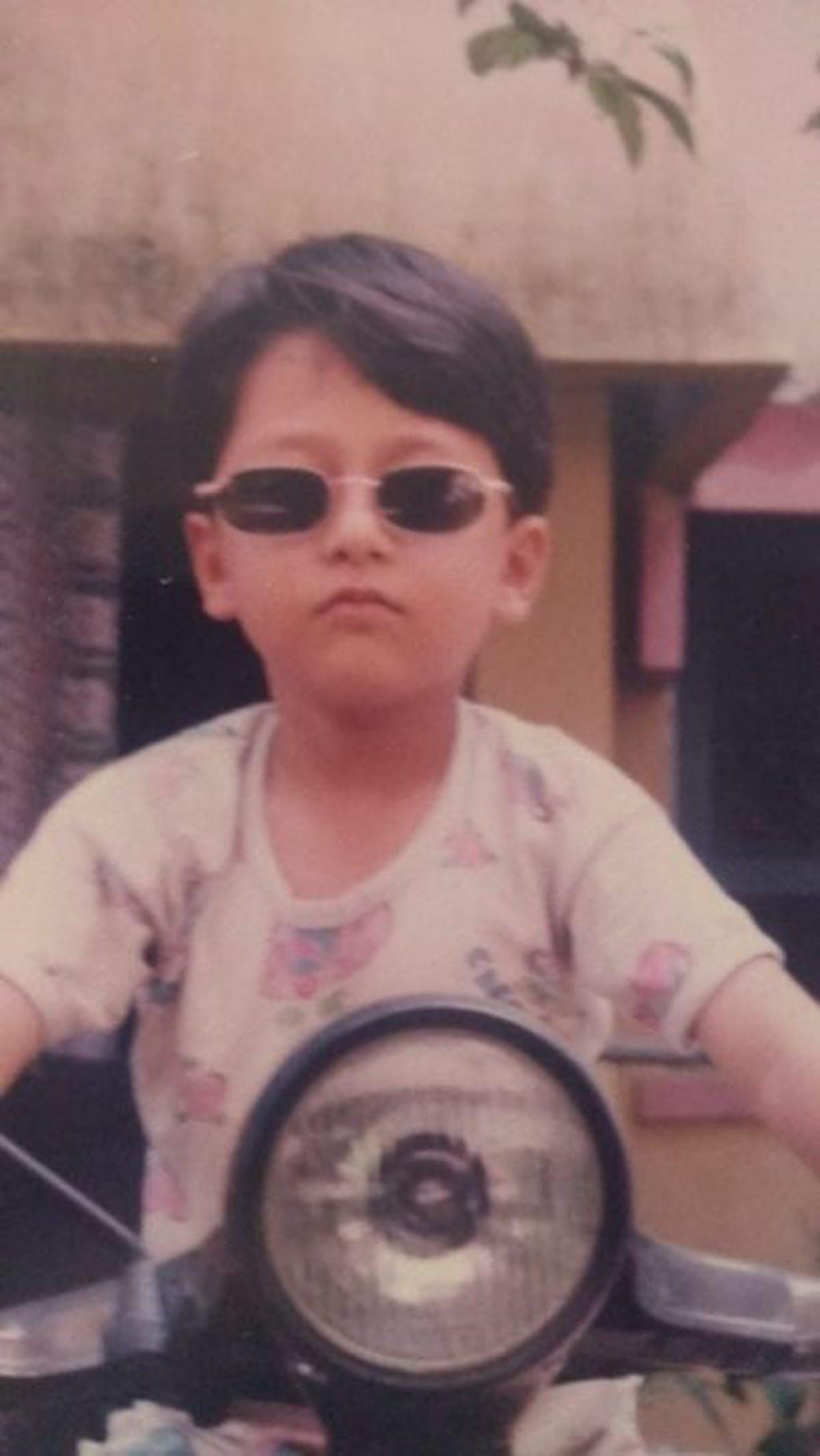 Kid with sunglasses
