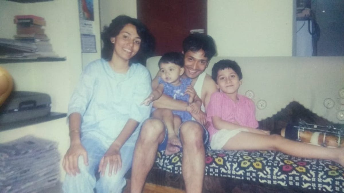 Uncle, aunty, sister and me