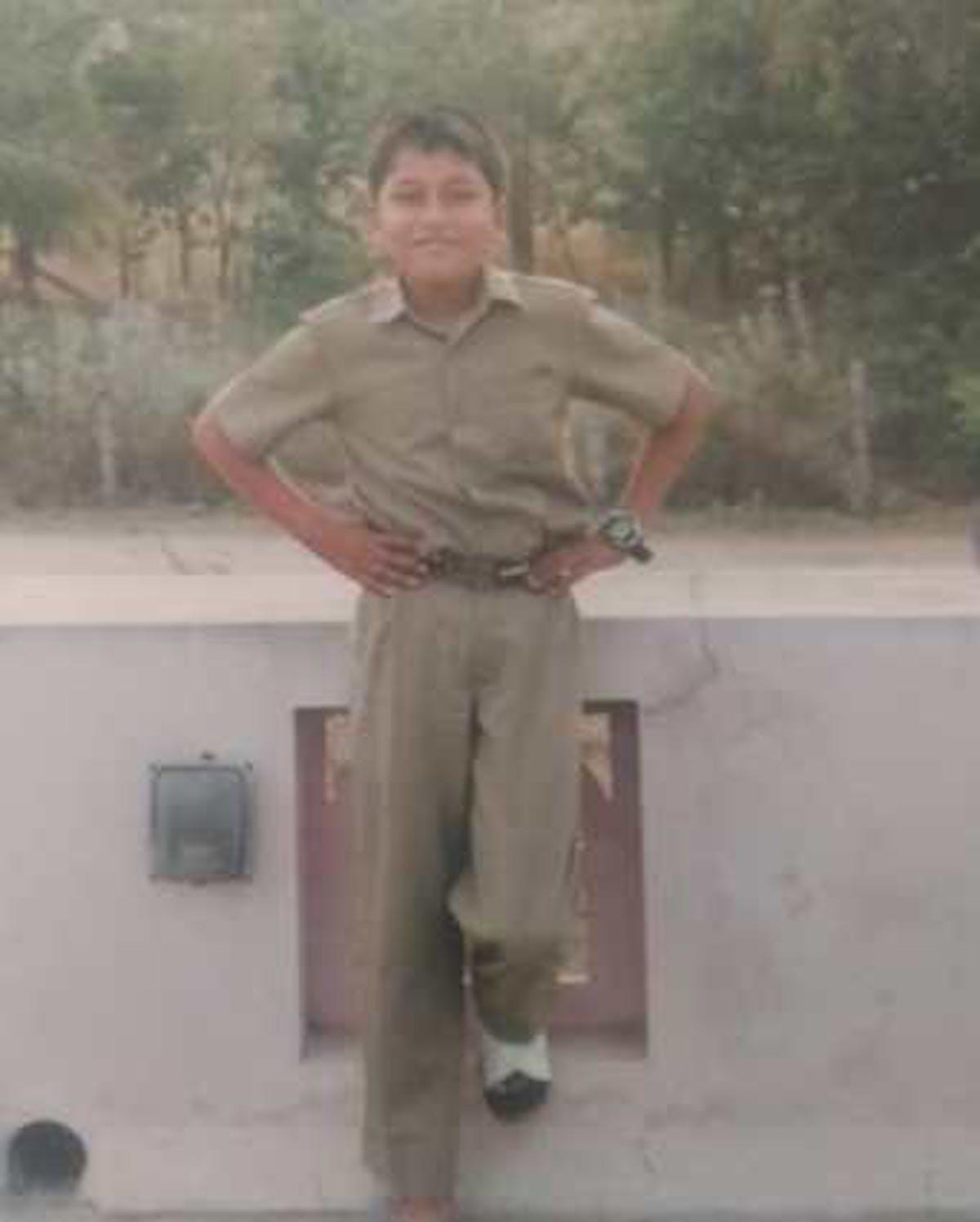 Boy in school uniform