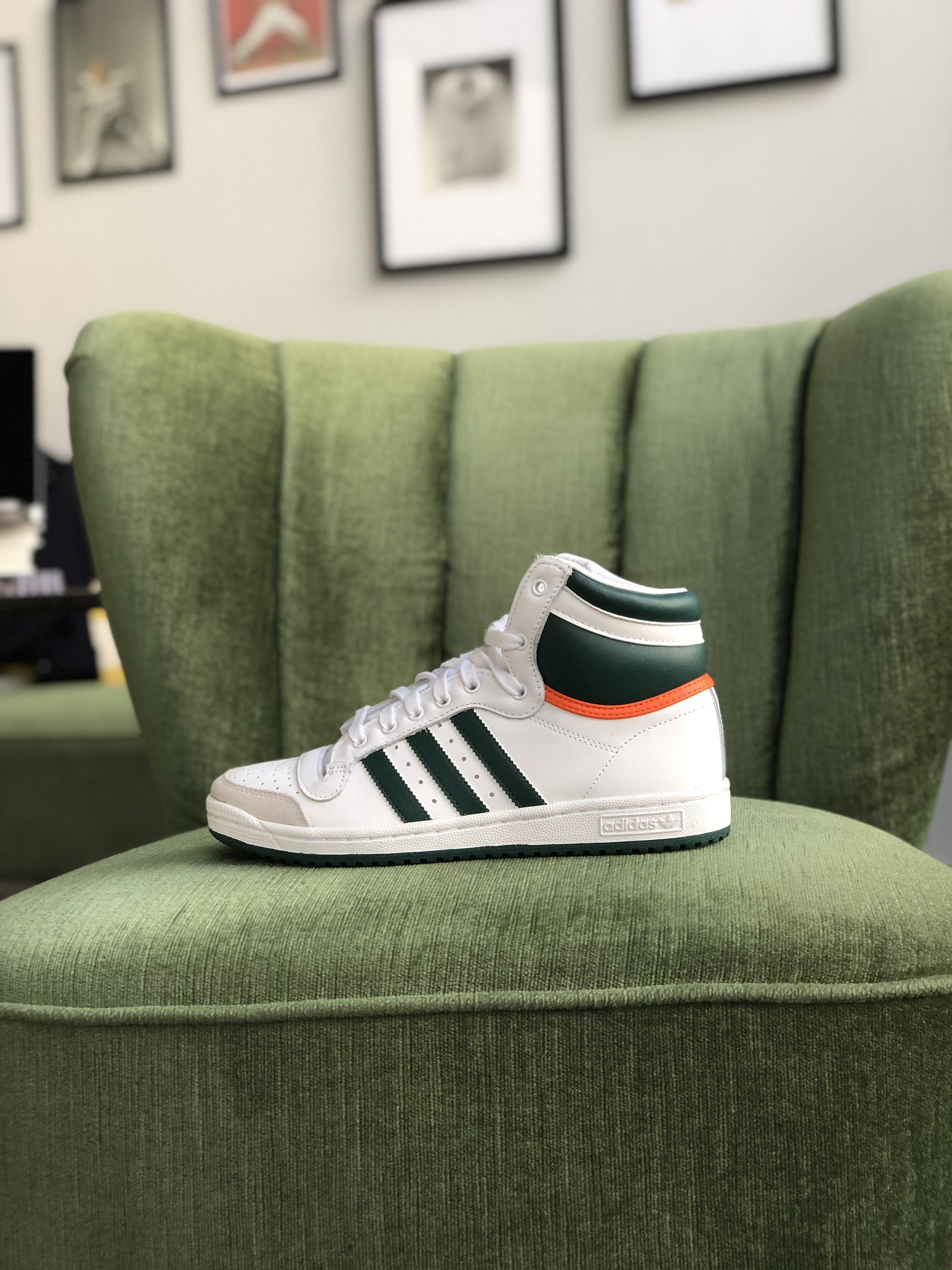 Adidas Top Ten White / Green - Sizerun 40 - 44