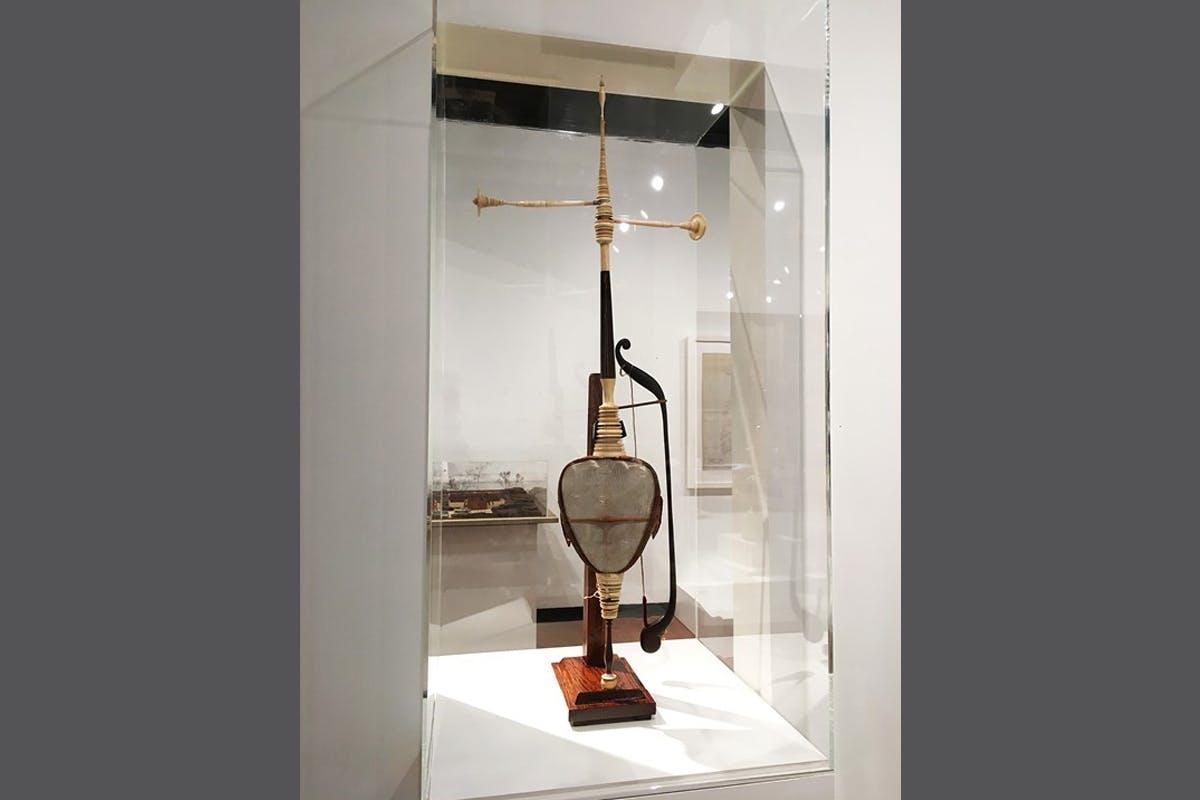 A Javanese rebab or bowed string instrument
