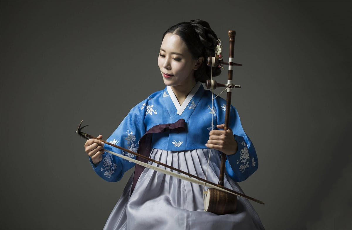 Soo Yeon Lyuh, haegeum (Korean two-string bowed instrument) player