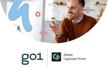 Go1 x Adobe Captivate Prime logos