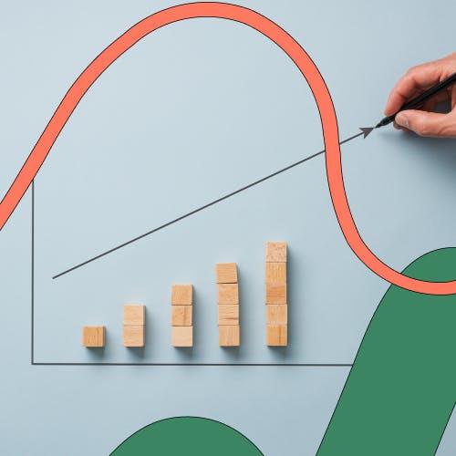 Graph showing increasing returns
