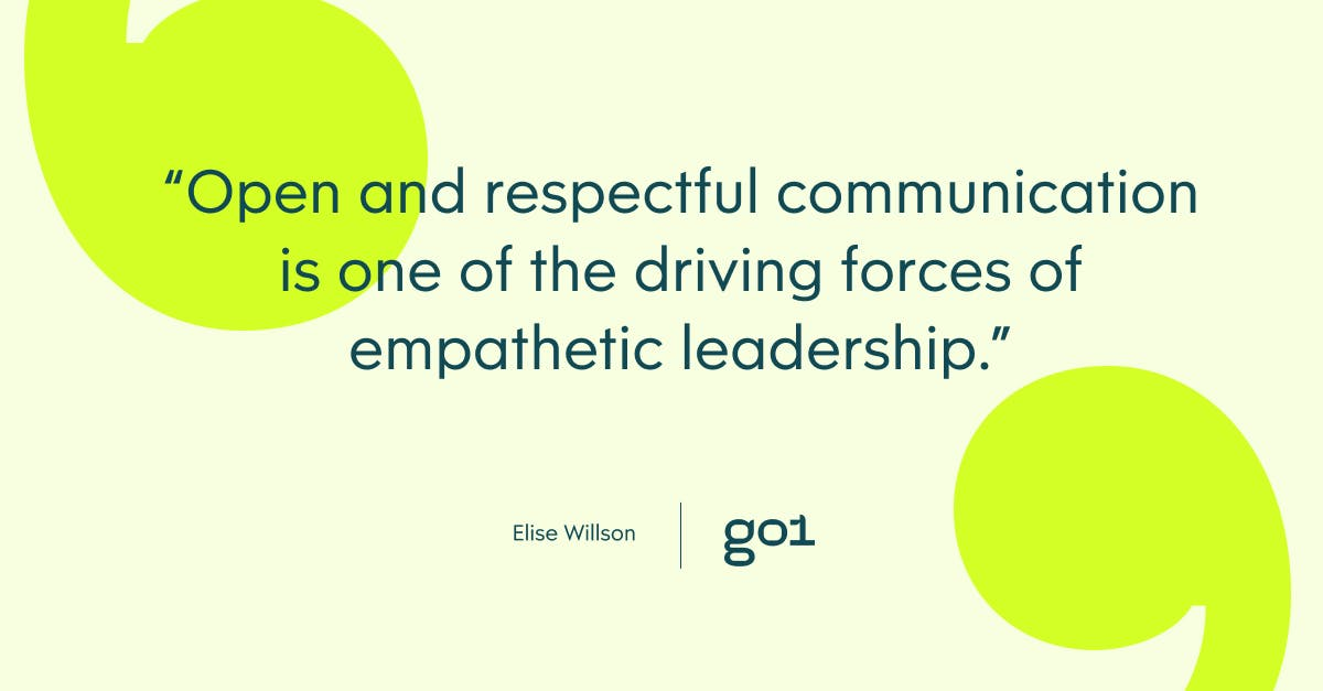 Quote graphic on open and respectful communication