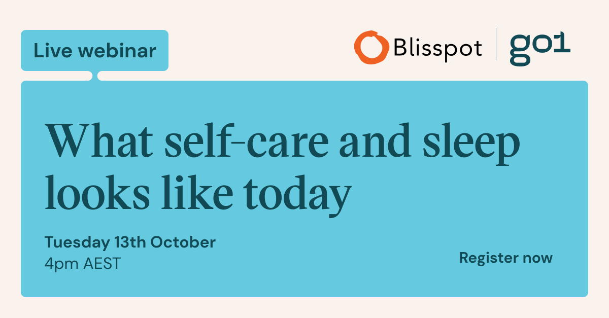 What self-care and sleep looks like today webinar social media share image