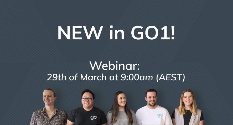 Upcoming Webinar: New in GO1!