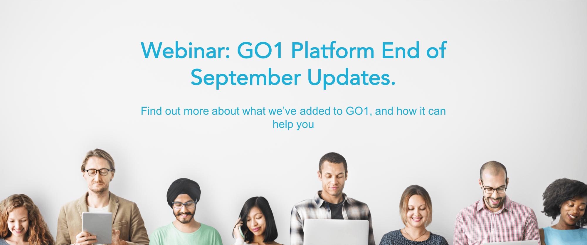 Webinar catchup: GO1 Platform September updates