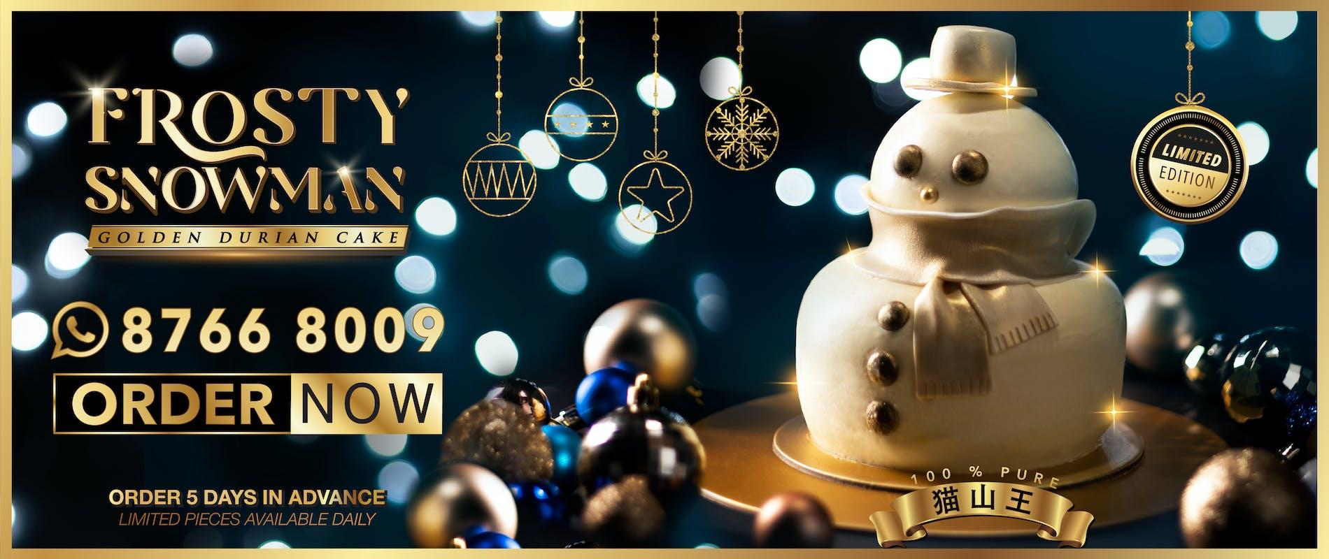 Christmas, Snow, Holiday, Cake, Durian, Freezing, Desserts, Sweet, Mao Shan Wang