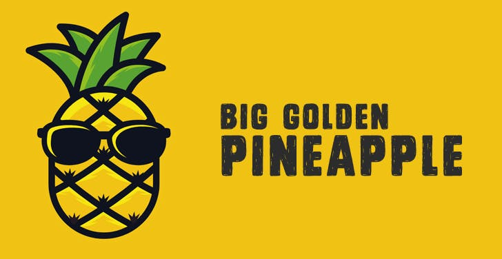 The Big Golden Pineapple Logo