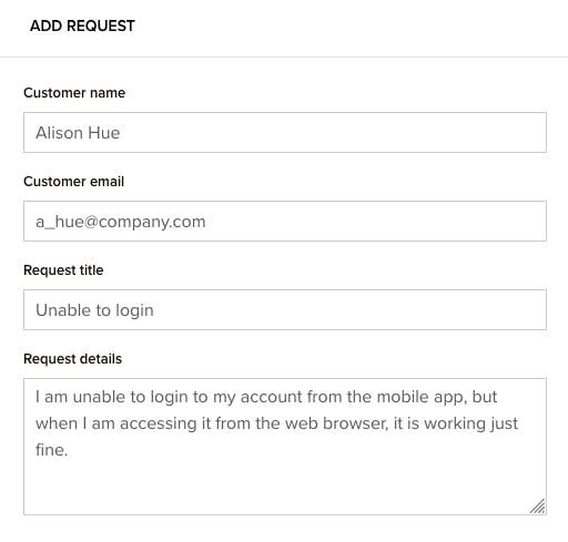 customer request management workflow