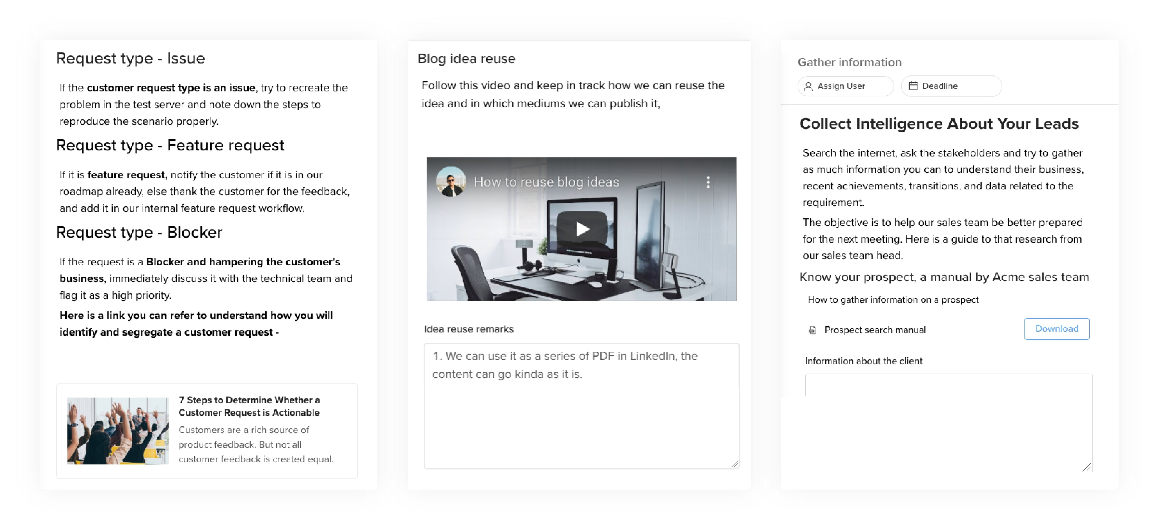 simple workflow documentation, process documentation