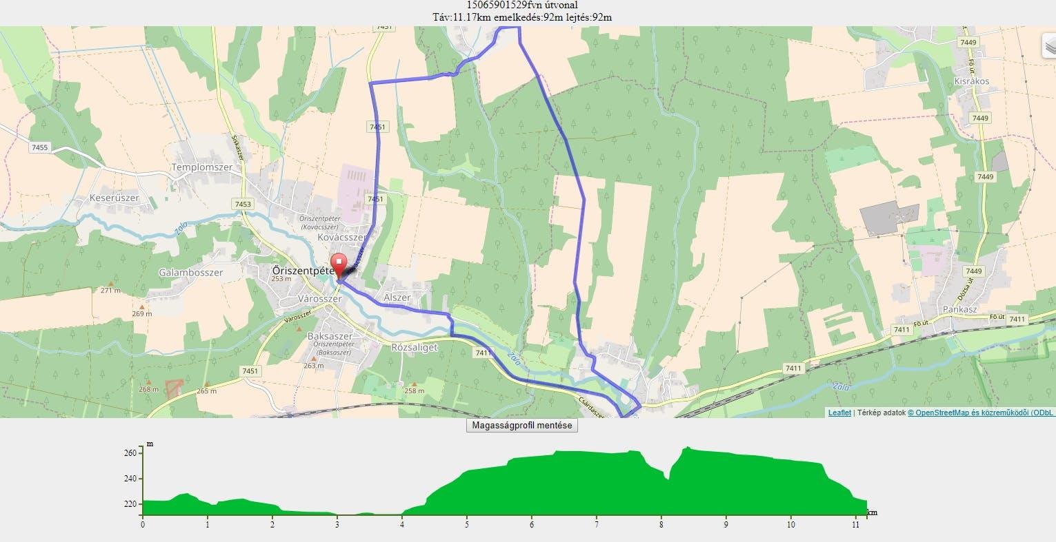 23 km-es terkep
