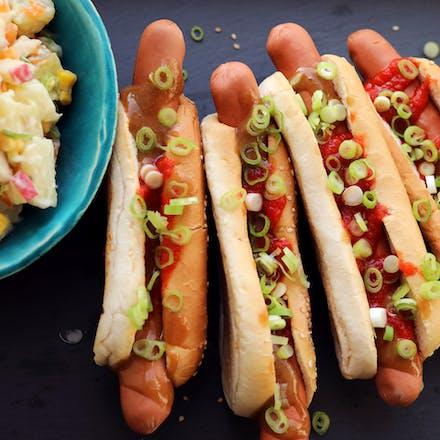 Pølsefest med Go'Vegan Wiener og potetsalat