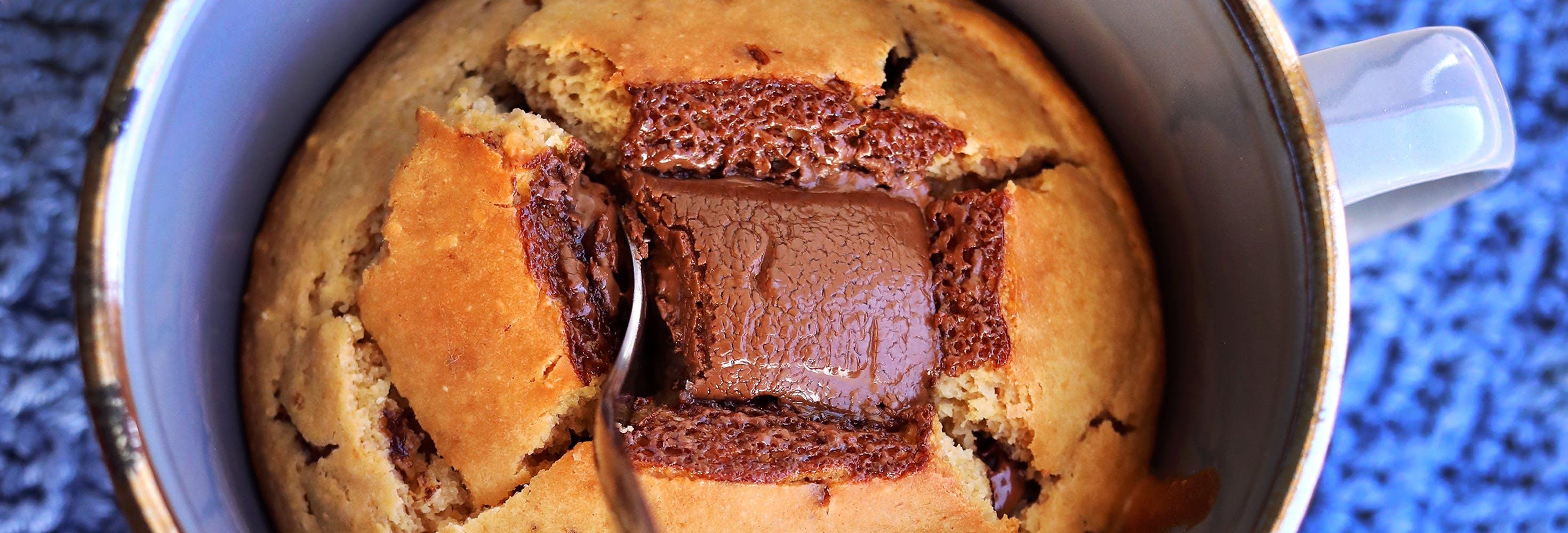 Koppkake med peanøttsmør og Go'Vegan Lys Sjokolade