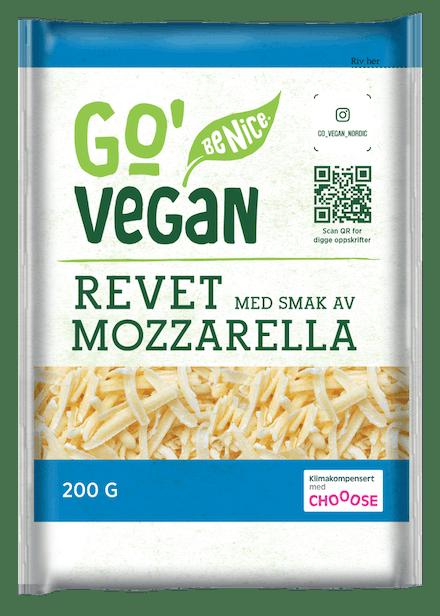 Go'Vegan revet, smak av Mozzarella