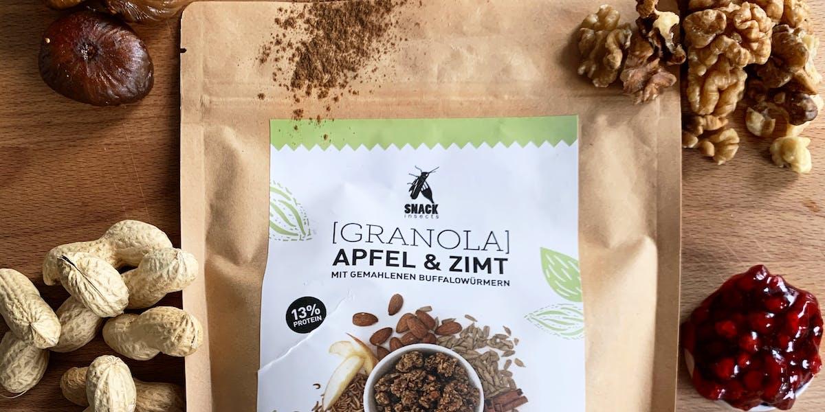 Apfel & Zimt Granola von Snack-Insects mit extra Zutaten