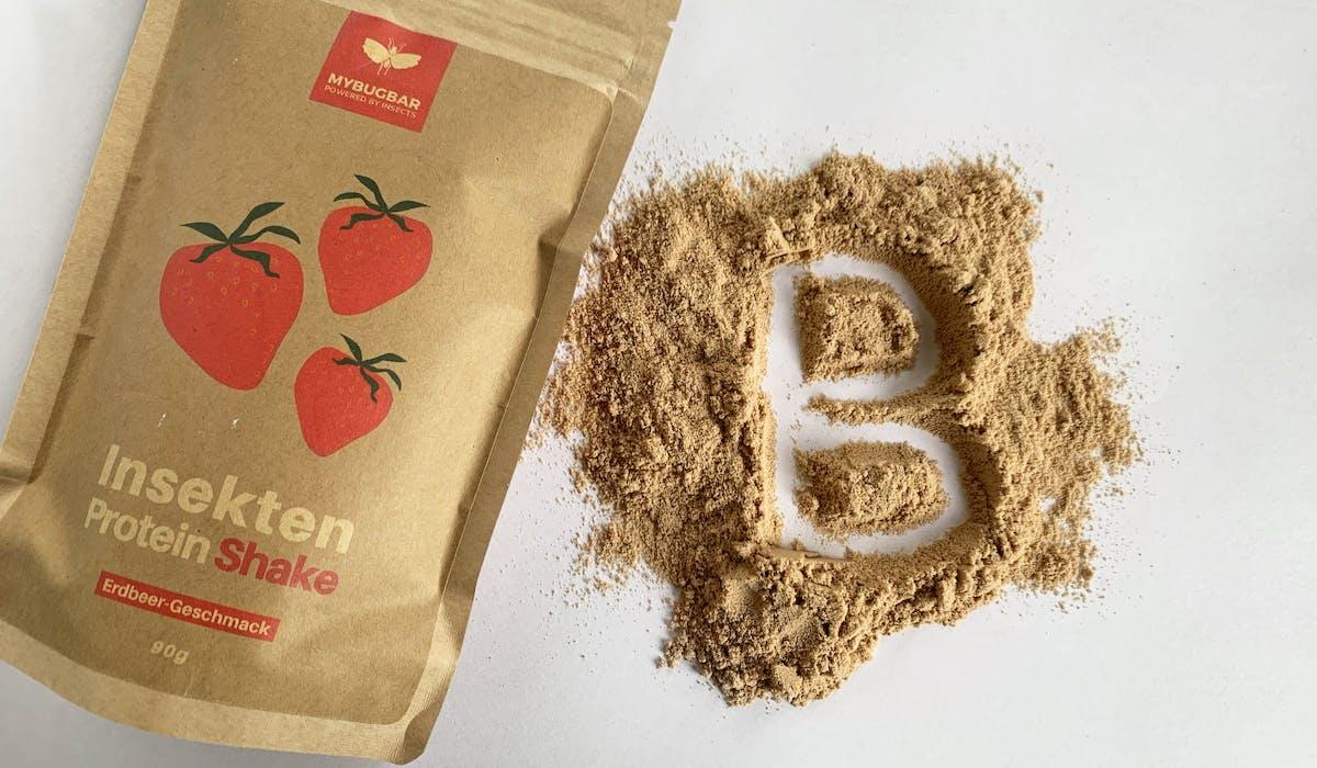 Mybugbar strawberry protein shake