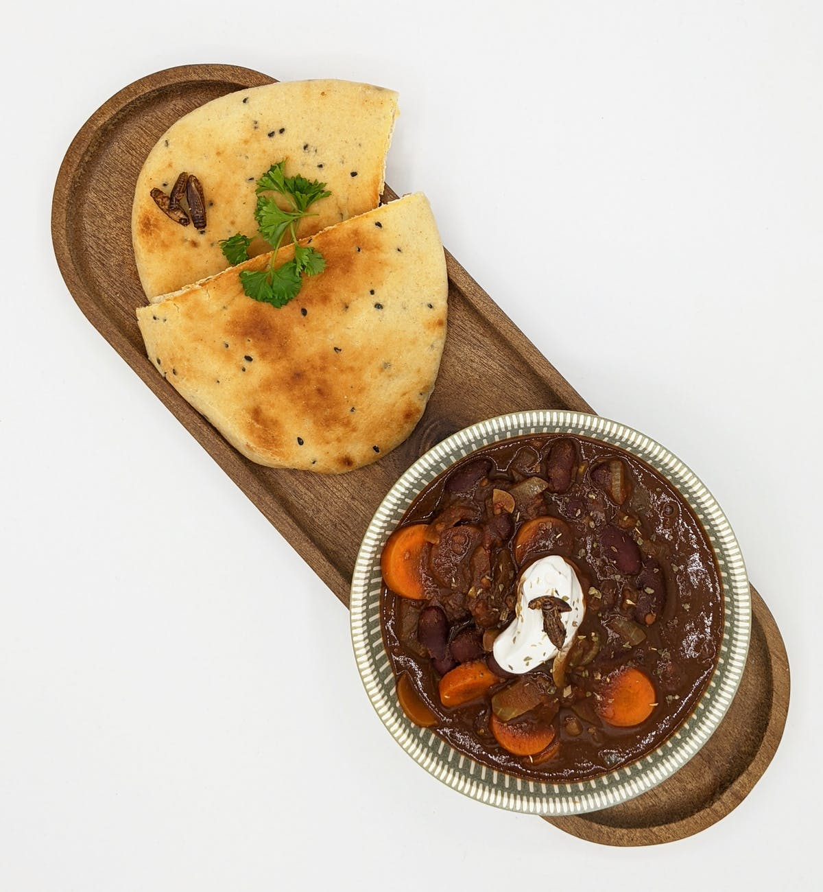 Serve your chili con carne with fresh naan bread for a change!