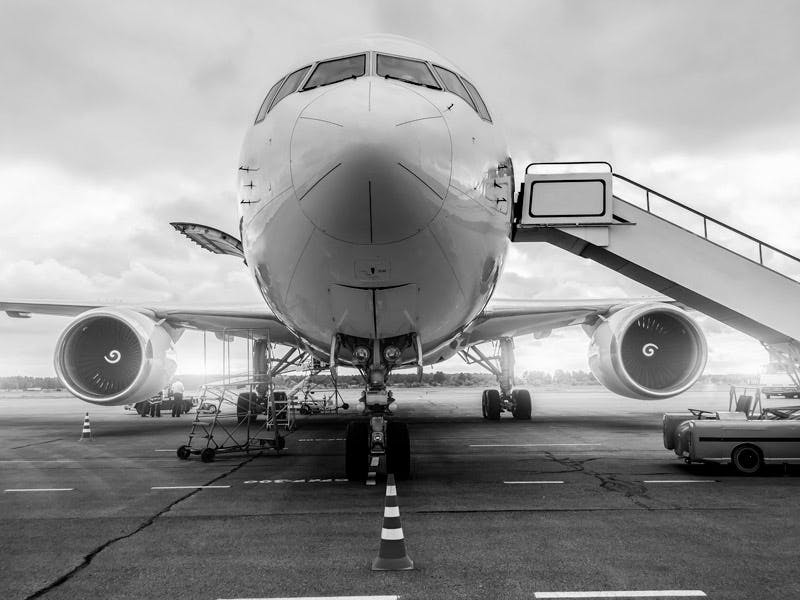 Boeing aircraft on tarmac