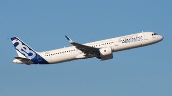 Airbus A321 neo in the air