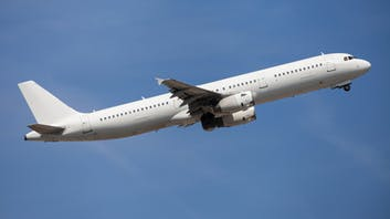 Airbus A321 flying