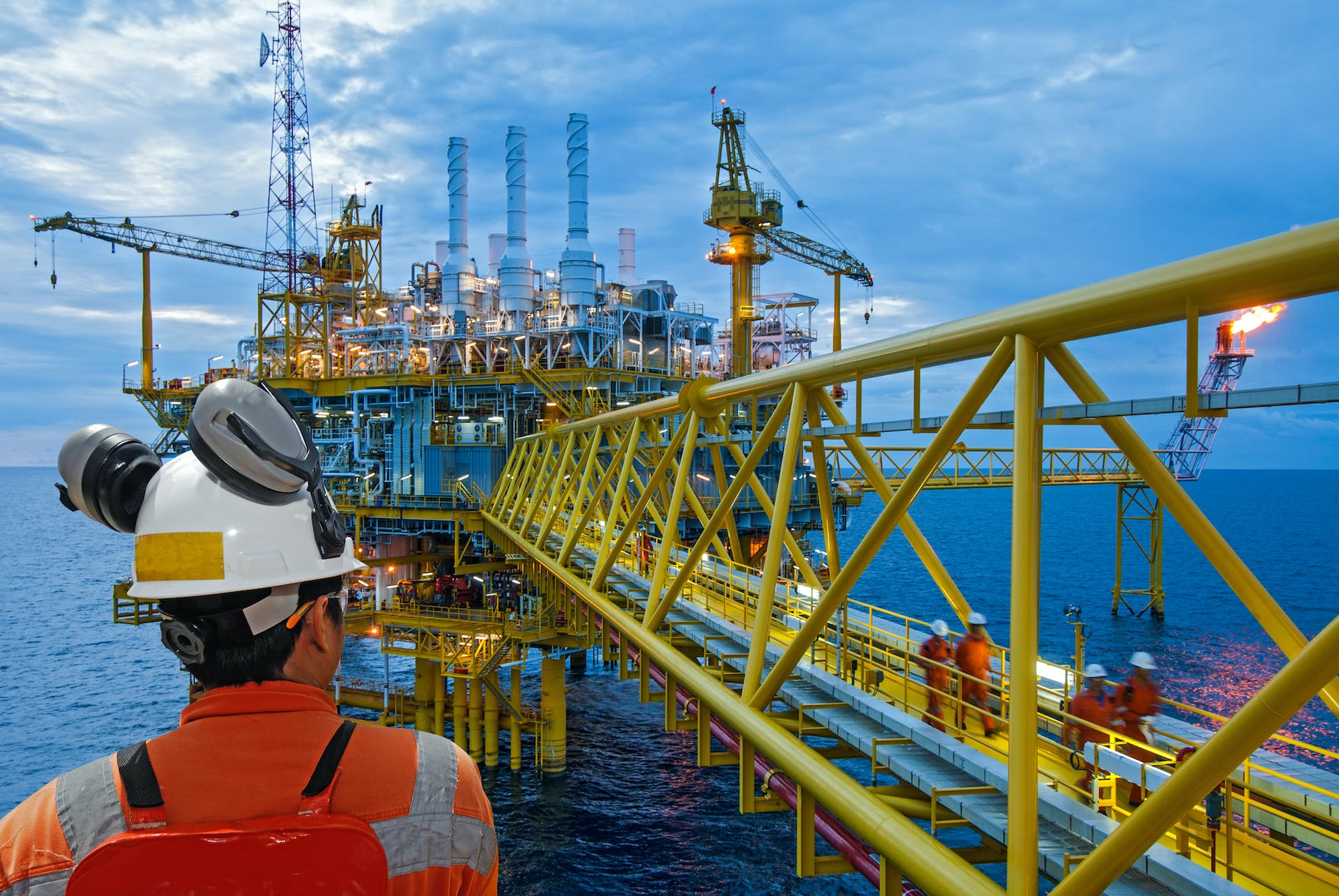 Crew change for oil rigs require charter flights to travel from one place to another.