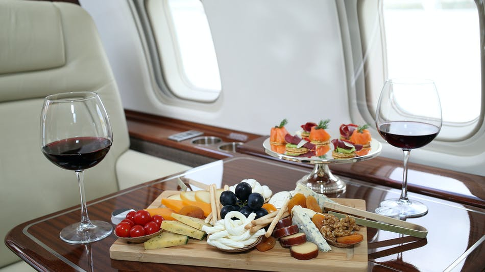 Satisfy every craving by requesting meals and any other amenity from your Private Aviation Advisor.
