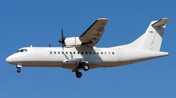 ATR 42 landing