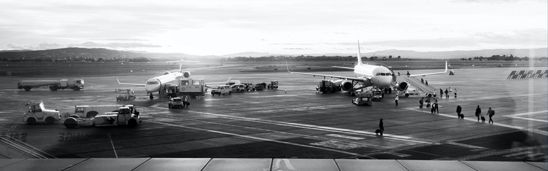 Passengers boarding a tour operator flight