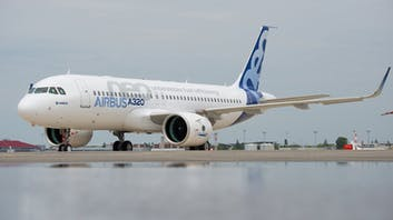 Airbus A320 NEO on ground