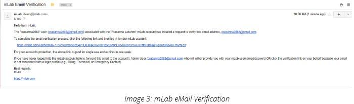 mLab eMail Verification