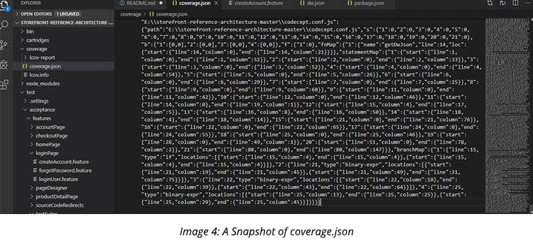 A Snapshot of coverage.json