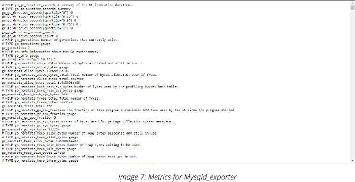 Metrics for Mysqld_exporter
