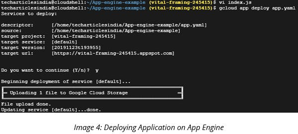 Deploying Application on App Engine