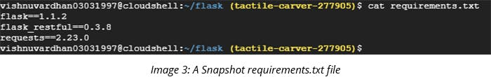 A Snapshot requirements.txt file