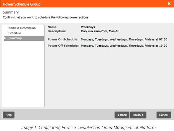 Configuring Power Schedulers on Cloud Management Platform