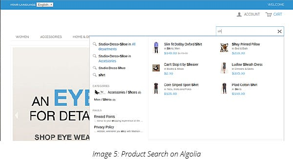 Product Search on Algolia
