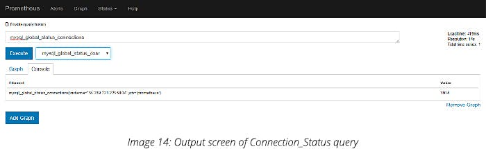 Output screen of Connection_Status query