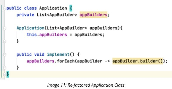 Re-factored Application Class