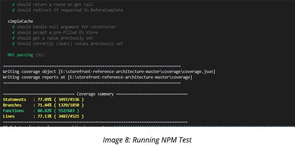 Running NPM Test