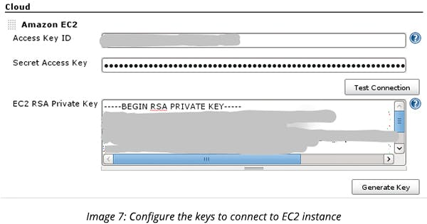 Configure the keys to connect to EC2 instance